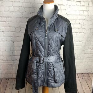 Vince Camuto Gray Quilted Field Jacket.